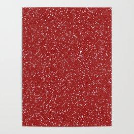 Red Glitter I Poster