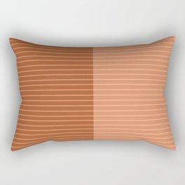Color Block Lines XXXVIII Rectangular Pillow