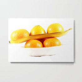 Orange banane Metal Print