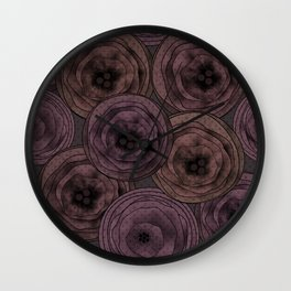 Chocolate velvet . Wall Clock