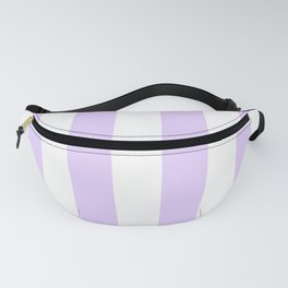 Chalky Pale Lilac Pastel and White Beach Hut Stripes Fanny Pack