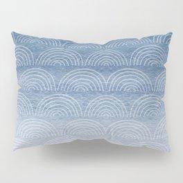 Blue Ombre Shibori Style Pattern, Indigo, Rainbow Pattern, Blue Sky Pillow Sham