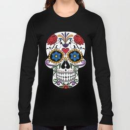 Colorful Sugar Skull Long Sleeve T-shirt