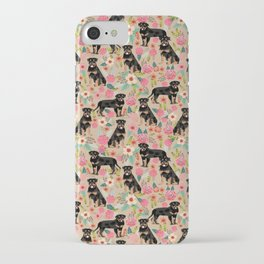 Rottweiler florals cute dog pattern pet friendly dog lover gifts for all dog breeds iPhone Case