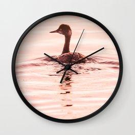 Bird - Eared Grebe Wall Clock