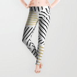 A Linear White Gold New Leggings