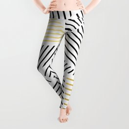 A Linear White Gold New Leggings