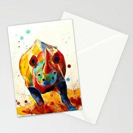 Agitated Rhino Stationery Cards