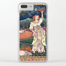 Wine Harvest Maiden Clear iPhone Case