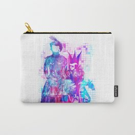 Cotton Candy Faceless Goth woman and punk dude Carry-All Pouch