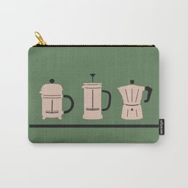 Volturno & French Press Coffee #6 opaque green & vintage pink Carry-All Pouch