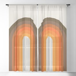 Golden Rainbow Sheer Curtain