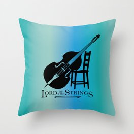 Double Bass Lord of the Strings Throw Pillow