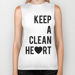 Typographic Quote Print In Black And White Biker Tank