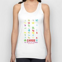 chaos Tank Tops featuring Chaos by Slippytee Clothing