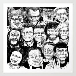 Dead Celebrities Art Print