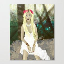 Blonde Girl in Brazil  Canvas Print