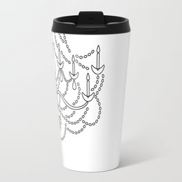 Chandelier Illustration Print Travel Mug