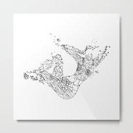 Swimmin' In Green Metal Print
