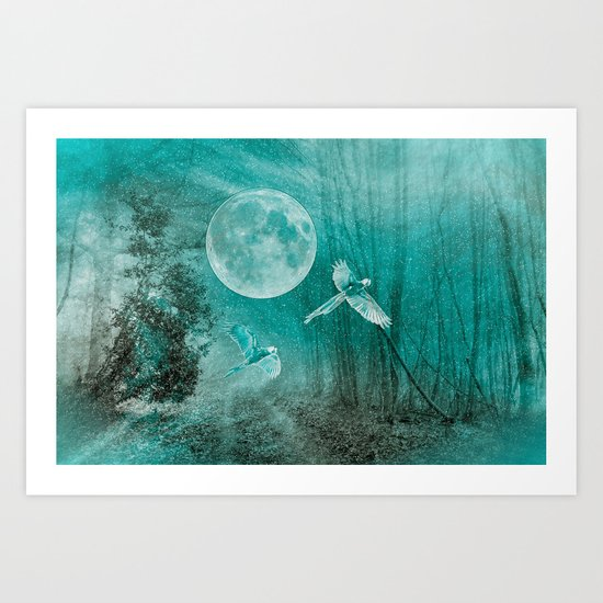 FOREST DREAMING Art Print