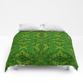 Abstract Acrylic Marble Star Green Comforters