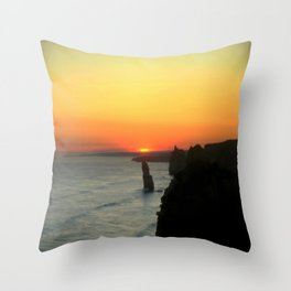 Sunsetting over the Great Southern Ocean Throw Pillow