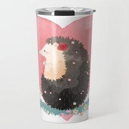 Love Heart Hedgehog Travel Mug
