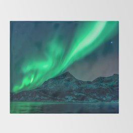Aurora Borealis (Northern Lights) Throw Blanket