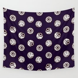 the big brother watches. eye pattern Wall Tapestry
