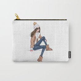 Girl in the snow Carry-All Pouch
