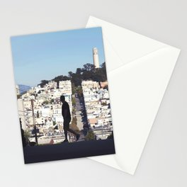 Silhouette from Near Lombard Looking Toward Coit Tower, San Francisco Stationery Cards