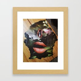 Friendly Lady Framed Art Print