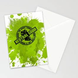 Neutral Good RPG Game Alignment Stationery Cards