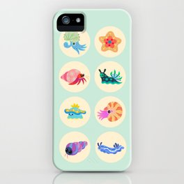 Hermit crab & starfish iPhone Case