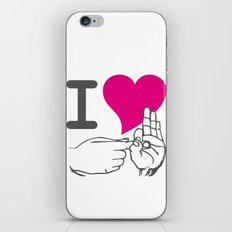 I LOVE TO F**K iPhone & iPod Skin