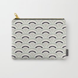 Japanese Seigaiha Wave in neutral pastel colors Carry-All Pouch