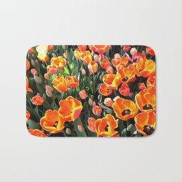 Red Tulips of Istanbul Bath Mat