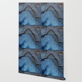 Blue Moonlight With Dark Ridges Wallpaper