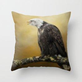 Eagle's Scorn Throw Pillow