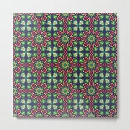 Abstract geometric retro seamless pattern Metal Print