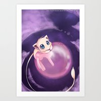 mew Art Prints featuring Mew by Sunny