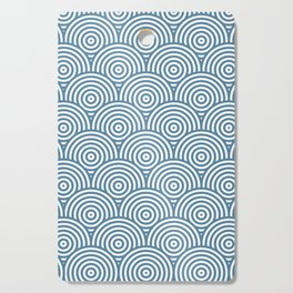 Scales - Blue & White #453 Cutting Board