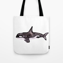 Watercolor Orca Killer Whale Tote Bag