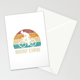 Mount Evans Cycling Climb TShirt Retro Cycling Shirt Vintage Cyclist Gift Idea  Stationery Cards