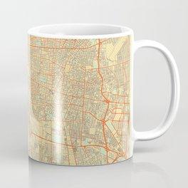 Teheran Map Retro Coffee Mug