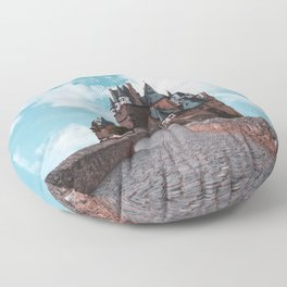 Burg Eltz Castle Germany Up in the Clouds Floor Pillow
