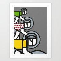 tour de france Art Prints featuring Peloton Tour De France by sonsofwolves