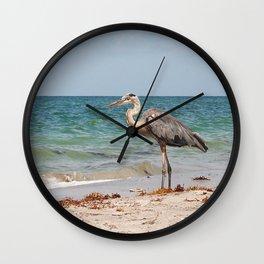 Heron Sand and Surf Wall Clock