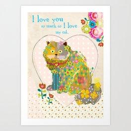 My Kitty Art Print