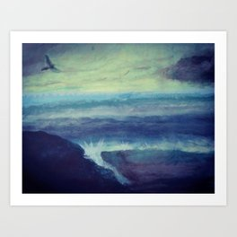 Above the Stormy Sea Art Print